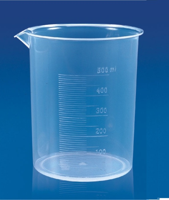 Polylab plastic beakers