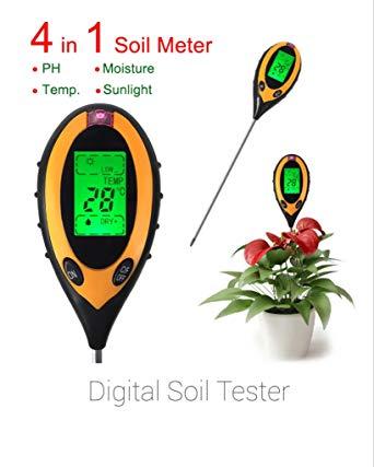 Digital 4 in 1 Soil PH Moisture Meter 2