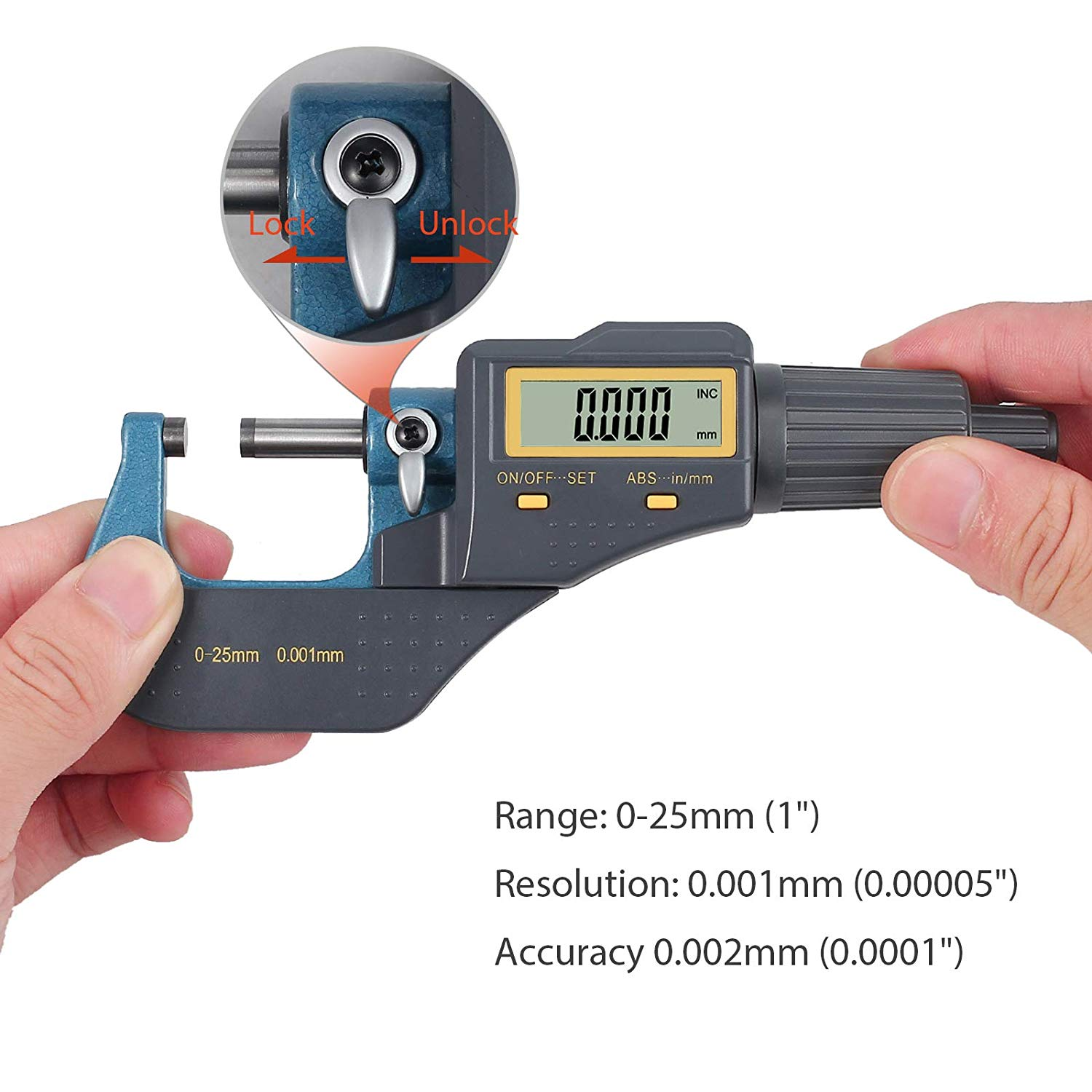 Digital Micrometer 25mm 2