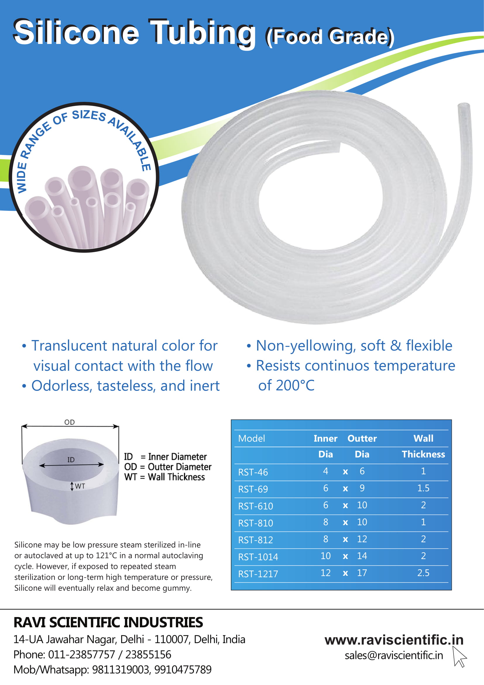 Food Grade Silicone Tubing Pamphlet