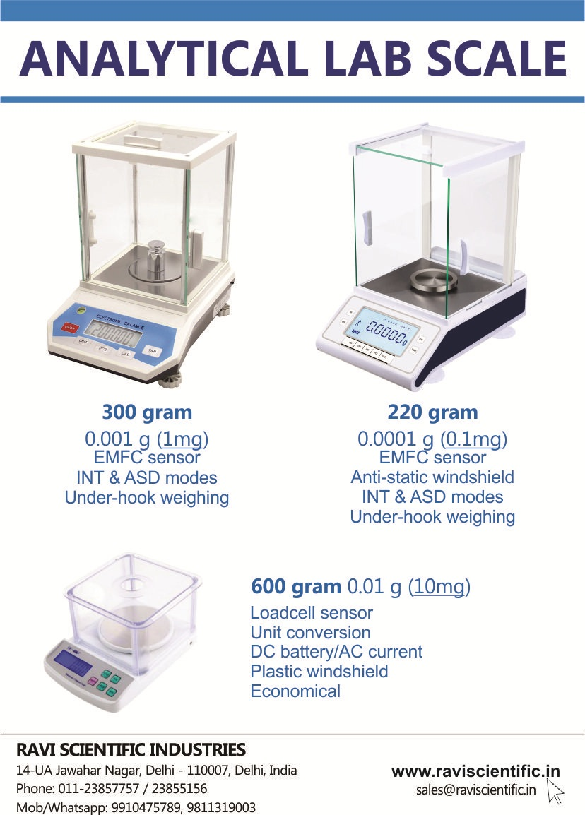 Analytical Weighing Scale for Lab 1mg 0.1mg