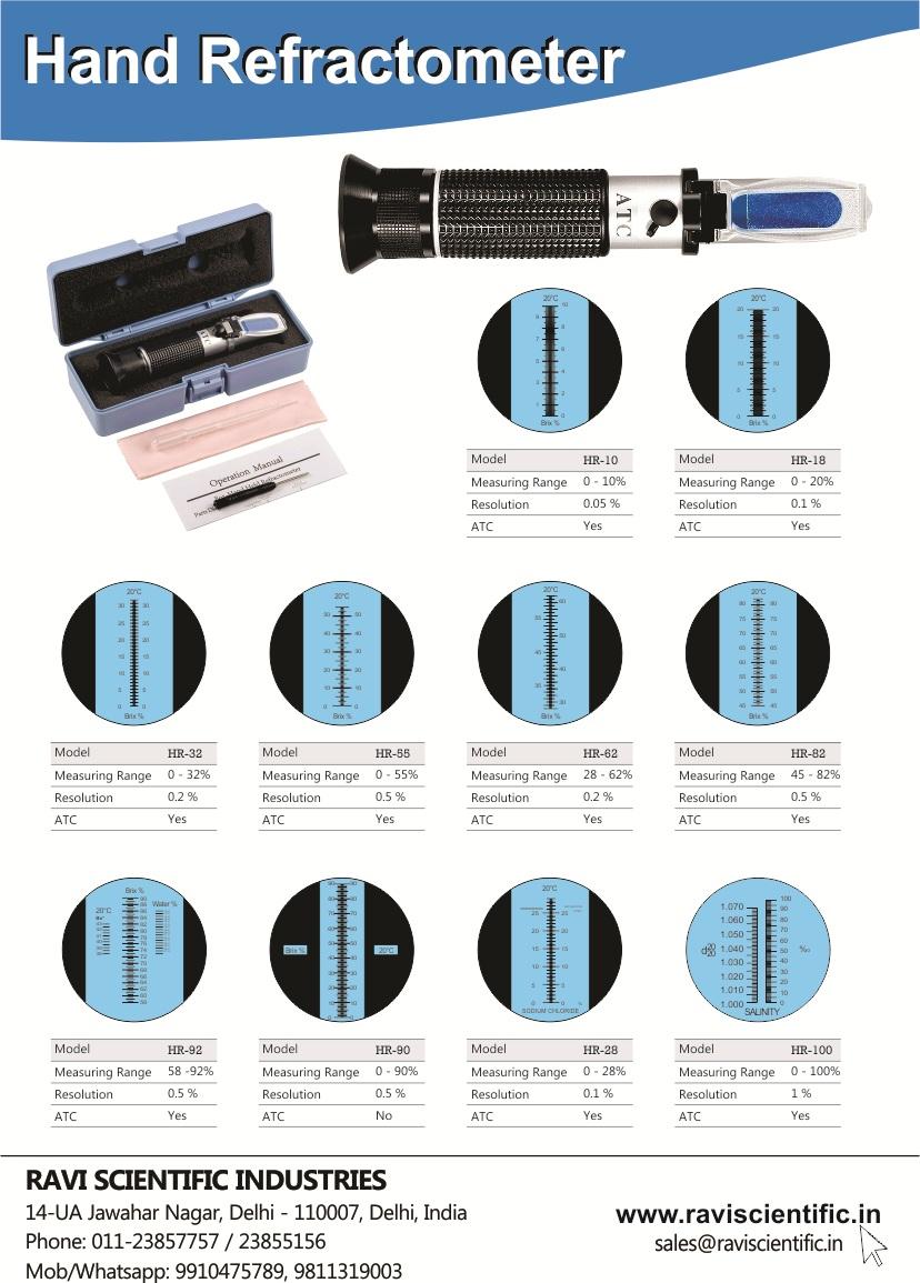 Hand Refractometer Erma Japan Brochure