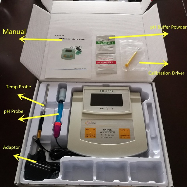 Benchtop pH Meter Microprocessor based