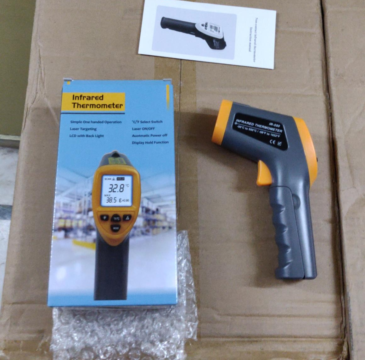 Infrared Thermometer 550 degree with box