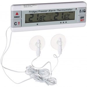 Dual Fridge Freezer thermometer