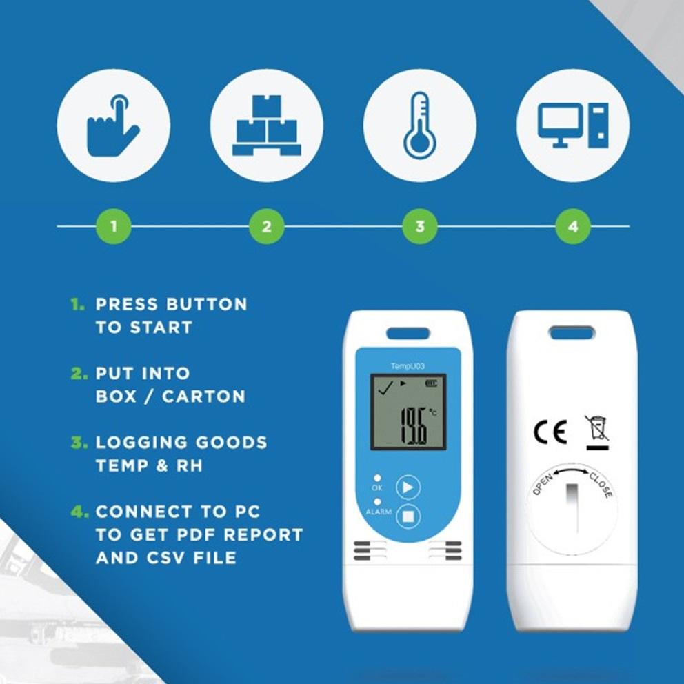 USB Temperature Humidity Data Logger 2