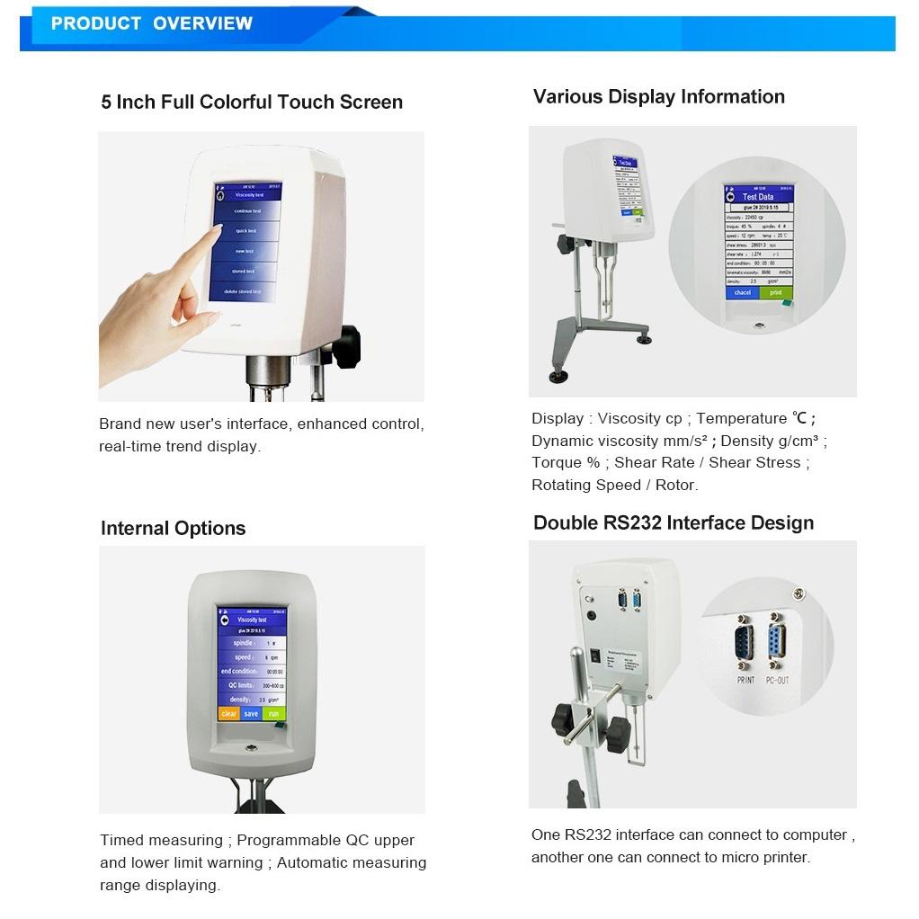 Touchscreen Viscometer T-800 3