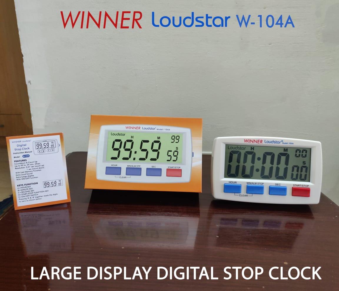 Winner Large Digital Stop Clock W-104A 1