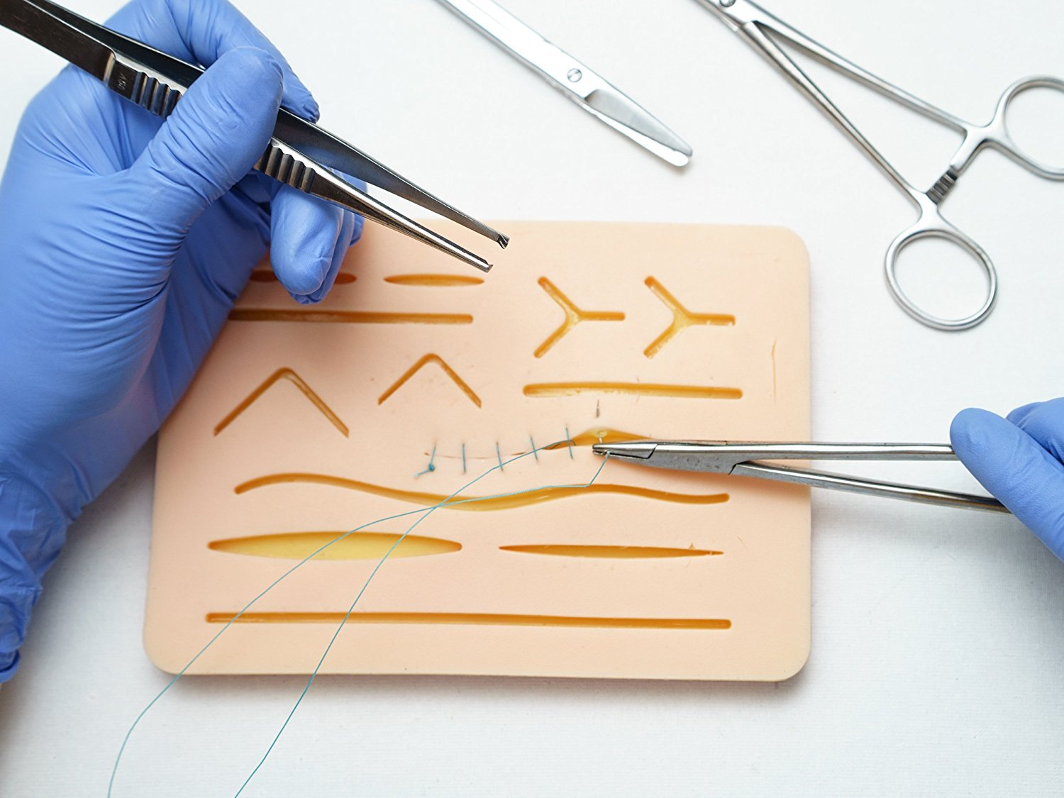Suture Practice Pad with incisions 1