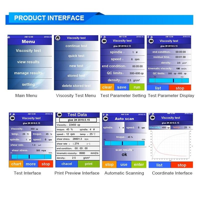 Touchscreen Viscometer T-800 2